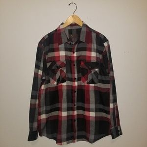 Other - NWT Medium Red & Black Plaid Long Sleeve Flannel